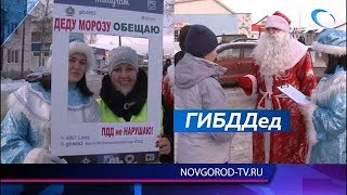 В Панковке на знание ПДД водителей проверил Дед Мороз