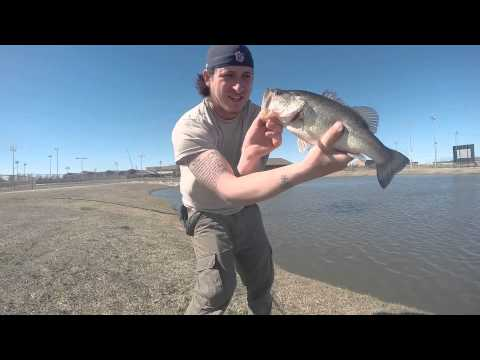 Bass fishing (practice pond)