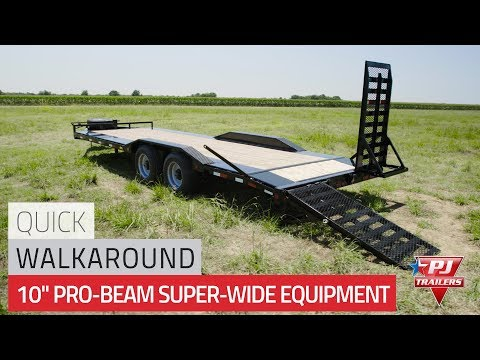 2021 PJ Trailers 10 in. Pro-Beam Super-Wide Equipment (H7) 32 ft. in Kansas City, Kansas - Video 1