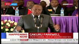 President Uhuru Kenyatta urges Nyeri residents not to lose even after losing two Governors
