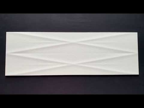 Płytka ścienna GRAVITY white lines structure satin 24x74 gat. II