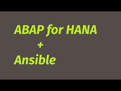 Automate ABAP for HANA deployment using Ansible
