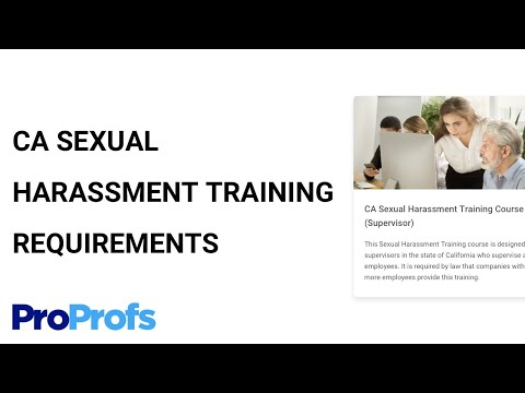 What Are CA Sexual Harassment Training Requirements for ...