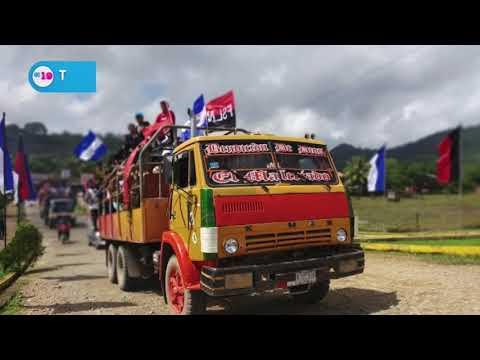 Caravanas avanzan hacia Managua para celebrar  40 aniversario de a Revolución Sandinista