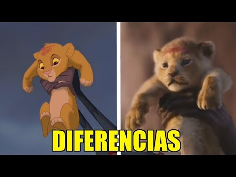TODAS Las DIFERENCIAS entre EL REY LEON (LIVE ACTION) y EL REY LEON (DIBUJO ANIMADO)