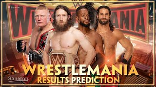 WWE WRESTLEMANIA 35 MATCH CARD RESULTS PREDICTIONS