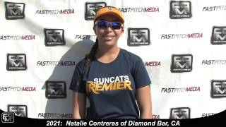 2021 Natalie Contreras Pitcher and First Base Softball Skills Video