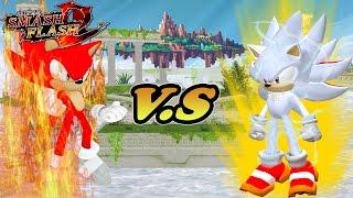 Super Smash Flash 2 Mod Fire sonic VS Shadic