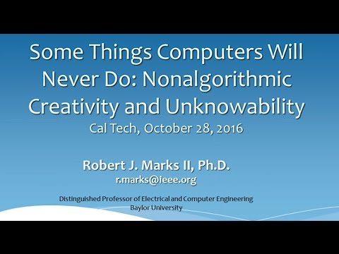 Evo-Info: Some Things Computers Will Never Do: Nonalgorithmic Creativity and Unknowability