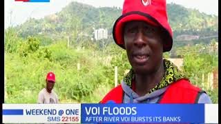 Over 300 families rendered homeless after River Voi bursts its banks