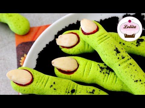Receta de dedos zombie para Halloween| Dulces para halloween | Receta para niños