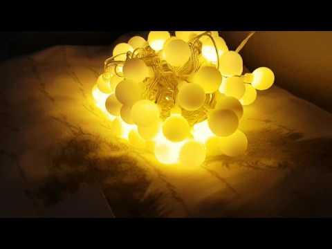 InnooTech LED Globe Lichterkette Innen Deko Glühbirne 10 Meter 100er Warmweiß