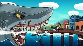 Jaws Movie 3 - MEGALODON VS THE CITY! (Minecraft Roleplay)