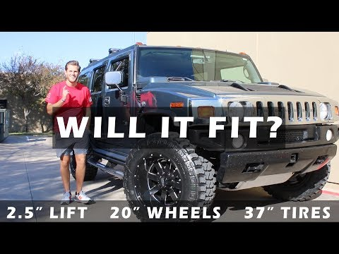 "WILL IT FIT? 2005 Hummer H2 2.5"" Lift, 20"" Wheels, 37"" Tires"