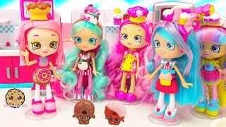 Chef Club Season 6 Shopkins Shoppies Doll Donatina with Exclusives + Playdoh Donuts