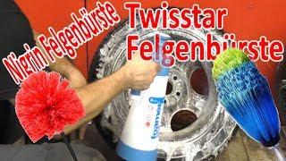 Twisstar Felgenbürste VS Nigrin Felgenbürste Alufelgen waschen im Test