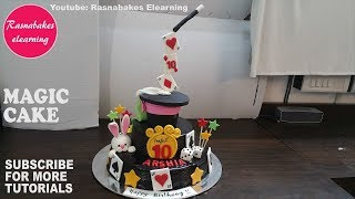 Gravity Defying Magic Circus 10th Birthday Cake For Boy Girl Kids Decorating Tutorial Classes