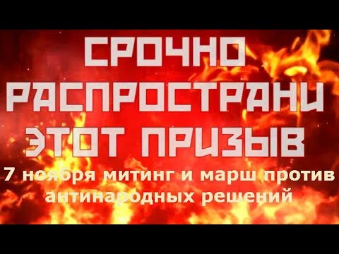 7 ноября 2018 митинг марш ПРИЗЫВ видео
