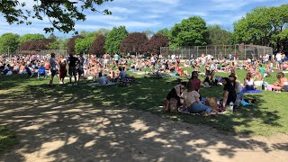 Thousands gathered in Trinity Bellwoods Park on Saturday, sparking a wave of anger online. City officials say the gathering is unacceptable.  To read more: http://cbc.ca/1.5582228  »»» Subscribe to CBC News to watch more videos: http://bit.ly/1RreYWS  Connect with CBC News Online:  For breaking news, video, audio and in-depth coverage: http://bit.ly/1Z0m6iX Find CBC News on Facebook: http://bit.ly/1WjG36m Follow CBC News on Twitter: http://bit.ly/1sA5P9H For breaking news on Twitter: http://bit.ly/1WjDyks Follow CBC News on Instagram: http://bit.ly/1Z0iE7O  Download the CBC News app for iOS: http://apple.co/25mpsUz Download the CBC News app for Android: http://bit.ly/1XxuozZ  »»»»»»»»»»»»»»»»»» For more than 75 years, CBC News has been the source Canadians turn to, to keep them informed about their communities, their country and their world. Through regional and national programming on multiple platforms, including CBC Television, CBC News Network, CBC Radio, CBCNews.ca, mobile and on-demand, CBC News and its internationally recognized team of award-winning journalists deliver the breaking stories, the issues, the analyses and the personalities that matter to Canadians.