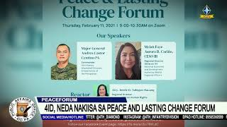 4ID, NEDA NAKIISA SA PEACE AND LASTING CHANGE FORUM
