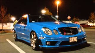 BABY BLUE w211 2009 E63 AMG - STRAIGHT PIPE EXHAUST