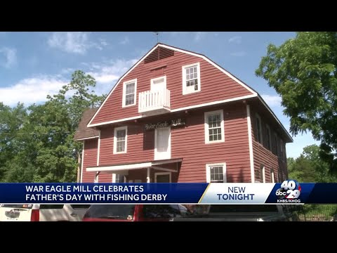 War Eagle Mill celebrates Father's Day with fishing derby