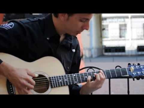 Kibin Guitars: Andrea Valeri warming up before his show