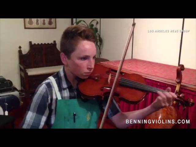 Nathan Benning, 14-year-old 4th Generation Violinmaker