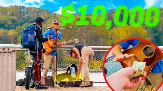 Tipping Street Performer $1000 EVERY 10 MINUTES!