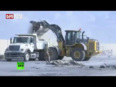İran'ın Vurduğu Ayn el Esad Üssü'nün Görüntüleri Yayınlandı