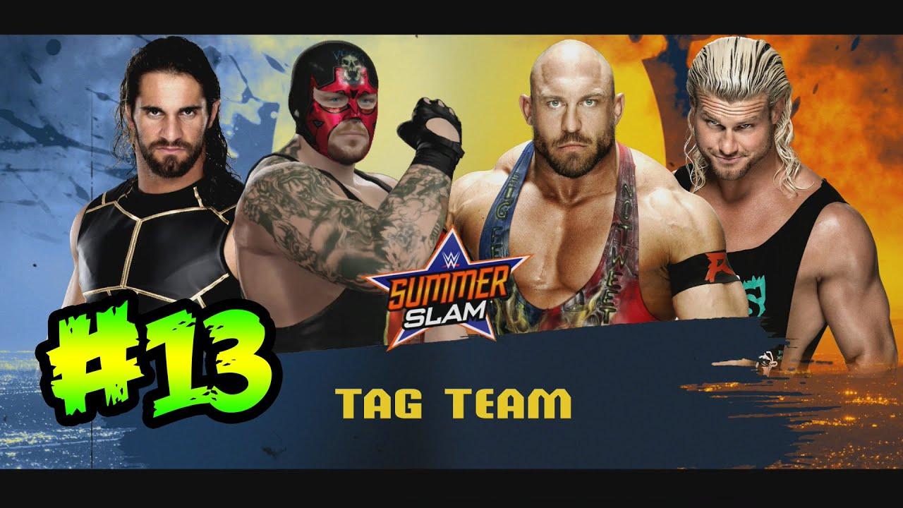 Ver WWE 2K16 – PPV SUMMERSLAM – Lucha de Parejas, La Autoridad Vs Ryback en Español Online