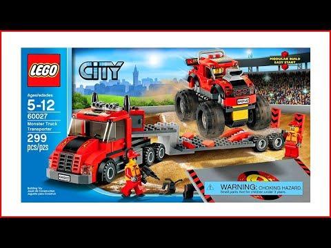 LEGO CITY 60027 Monster Truck Transporter Speed Build UNBOXING