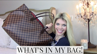 WHAT'S IN MY BAG 2017 | LOUIS VUITTON NEVERFULL GM | Mila Blond