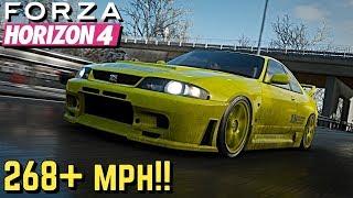 FORZA HORIZON 4 - 268+ MPH Nissan R33 GT-R Tutorial!!