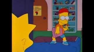 Барт Симпсон и Майкл Джексон    С Днём Рожденья Лиза