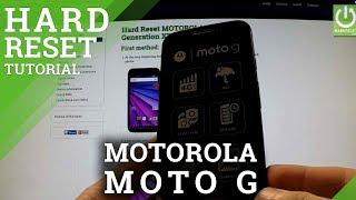Hard Reset MOTOROLA Moto G 3rd Generation XT1540 - Factory Reset
