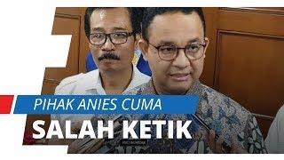 Sekda DKI Jakarta Bantah Anies Baswedan Lakukan Pembohongan Publik: Hanya Salah Ketik