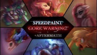 [GORE/13+] The Mane 6 Deaths +Aftermath -- MLP SPEEDPAINT