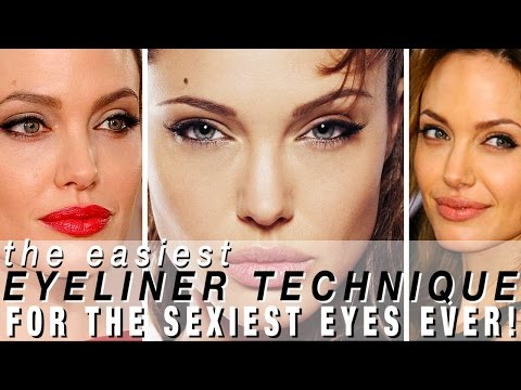 ANGELINA JOLIE Eyeliner Tutorial Tricks For PERFECT SEXY CAT EYE MAKEUP! SO Quick & Easy!
