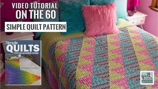 Easy Beginner 60-Degree Triangle Quilt! On the 60 Equilateral Triangle Quilt Pattern from My Book!