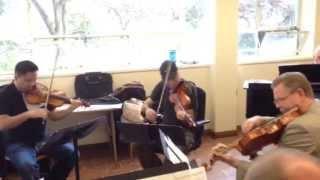Alexander String Quartet Rehearses Invasive Species by Robert Greenberg