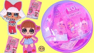 LOL Surprise Light Ups Blind Bag Doll Clips  + Num Noms Lights