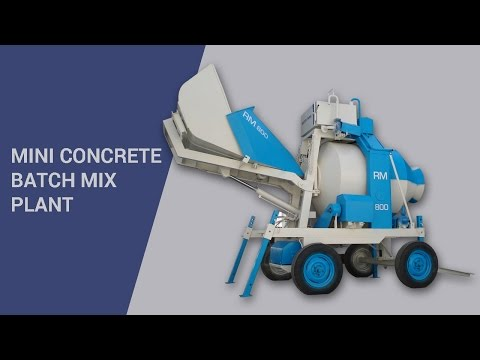 Mini Concrete Batch Mix Plants