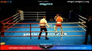 Хасанбой Дусматов ФИНАЛ КУБОК МИРА нефтяных стран по боксу 2017 Hasanboy Dusmatov FINAL