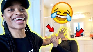 I HID HER PHONE!!! *SHE TRIED TO LEAVE ME*😂