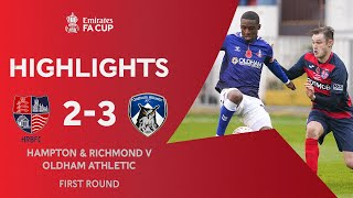 Oldham Too Strong For The Beavers | Hampton & Richmond 2-3 Oldham Athletic | Emirates FA Cup 2020-21