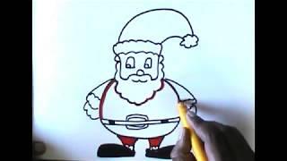 How To Draw Easy Santa Claus ฟร ว ด โอออนไลน ด ท ว ออนไลน