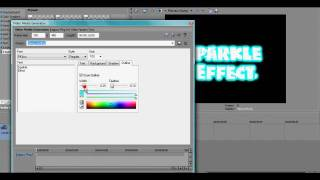How to put a sparkle effect on Sony Vegas Pro 9.0