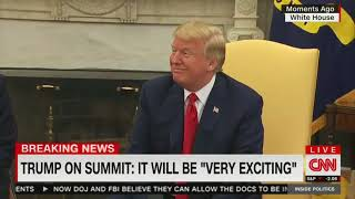 Trump on preparations for the summit with North Korea