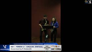 DUO J. FERREIRA & C. GONÇALVES play Konzerstuck by P. Hindemith #adolphesax